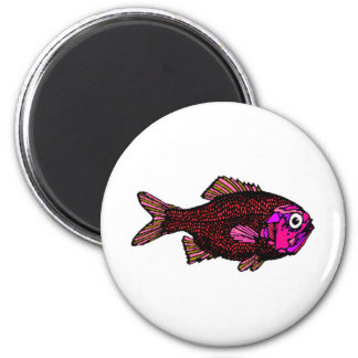 Fish Object Cartoon Animal Fun Kids Style Fashion 6 Cm Round Magnet
