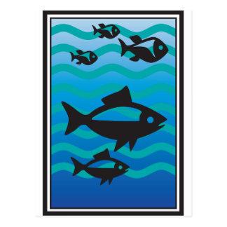 FISH OCEAN CUSTOMIZE POSTCARD