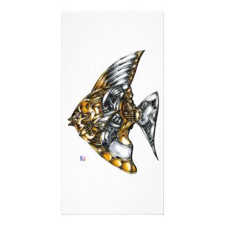 """Fish of opus number 20151028000c """"machine"""" card"""