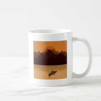 Fish on lake coffee mug