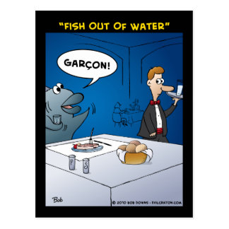 """Fish Out Of Water"" Postcard"