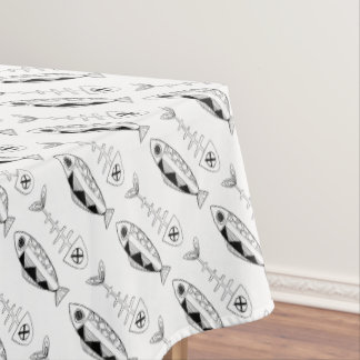 Fish pattern(black)Tablecloth, various colours Tablecloth