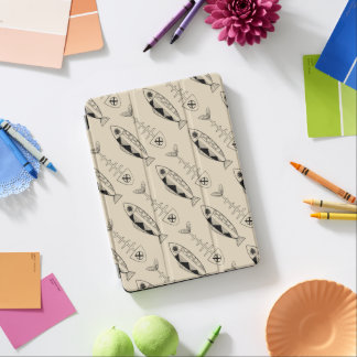 Fish pattern(black), various background colours iPad air cover