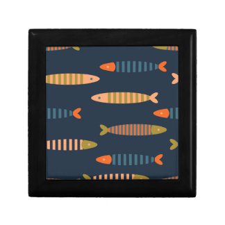 Fish pattern. Ocean life Gift Box