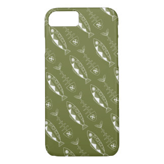 Fish pattern(white), various colours Phone Case