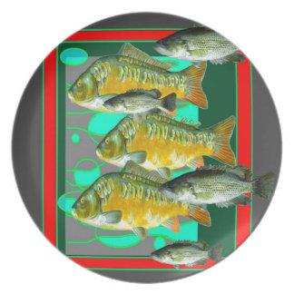 FISH PATTERNS ART PLATE