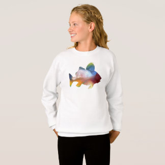 Fish (Perch) Art Sweatshirt