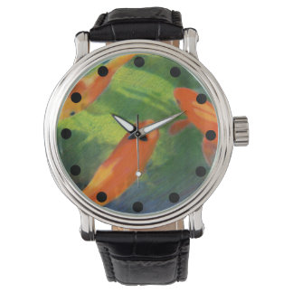 Fish Pond Coloured Pencil Drawing Watch