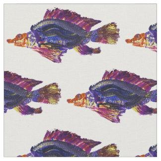 Fish print fabric