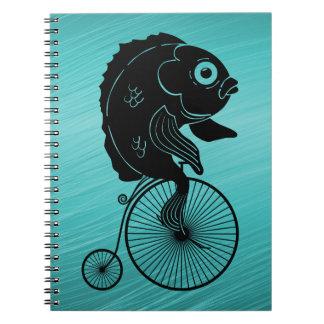 Fish Riding a Bike Notebook
