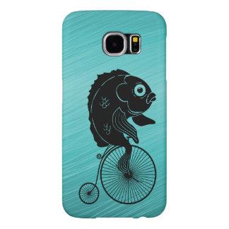 Fish Riding a Bike Samsung Galaxy S6 Cases