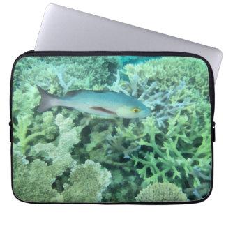 Fish roaming the reef laptop sleeve