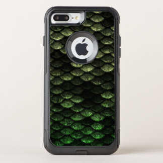 Fish Scales Pattern Deep Green Shades OtterBox Commuter iPhone 8 Plus/7 Plus Case
