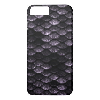 Fish Scales Pattern Deep Purple Shades iPhone 8 Plus/7 Plus Case