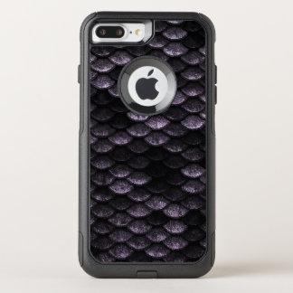 Fish Scales Pattern Deep Purple Shades OtterBox Commuter iPhone 8 Plus/7 Plus Case