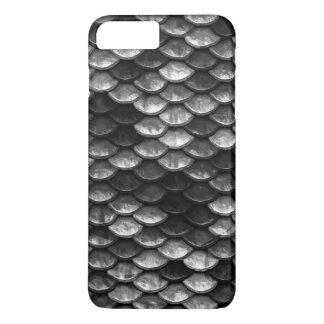 Fish Scales Pattern Grey & Black Shades iPhone 8 Plus/7 Plus Case