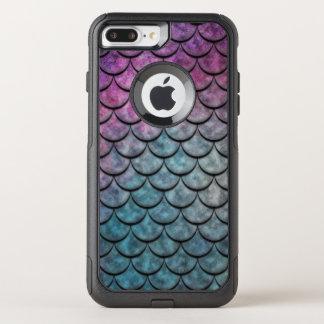 Fish Scales Pattern Multi Colour 4 OtterBox Commuter iPhone 7 Plus Case