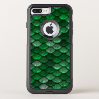 Fish Scales Pattern Shimmer Greens OtterBox Commuter iPhone 8 Plus/7 Plus Case