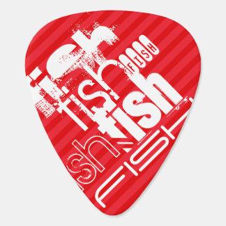 Fish; Scarlet Red Stripes Plectrum