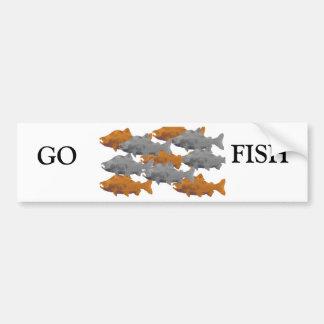 FISH -Silver and Copper Salmon Bumper Sticker