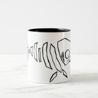 Fish Skeleton Two-Tone Mug