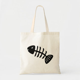 Fish Skeleton Tote Bag