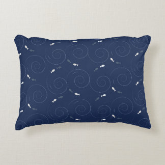 Fish Swimming in the Deep Blue Sea Accent Cushion