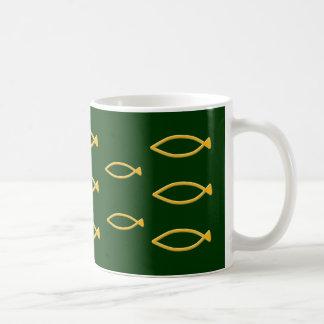 Fish symbol basic white mug