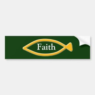 Fish symbol bumper sticker