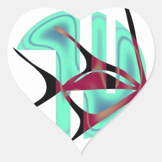 Fish Symbol Heart Sticker