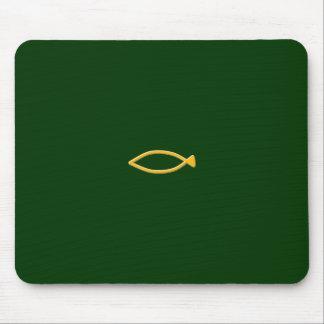 Fish symbol mouse pad