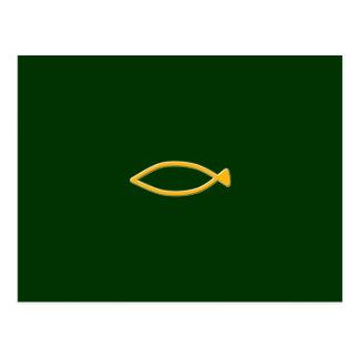 Fish symbol postcard