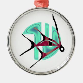 Fish Symbol Silver-Colored Round Decoration