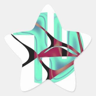 Fish Symbol Star Sticker