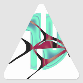 Fish Symbol Triangle Sticker