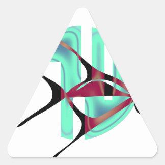 Fish Symbol Triangle Sticker