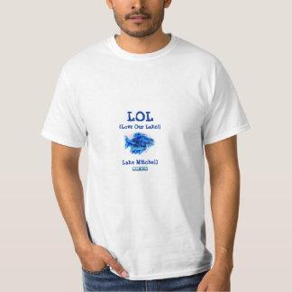 "Fish T-shirt ""LOL (Love Our Lake!) Lake Mitchell"""