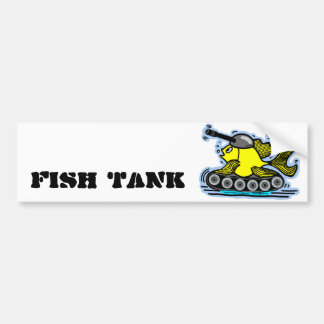 Fish Tank funny cute comic drawing bumper sticker