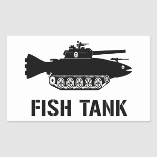 Fish Tank Rectangular Sticker