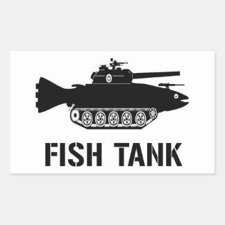 Fish Tank Rectangular Sticker