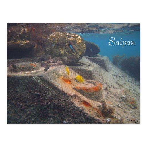 Fish Tank, Saipan Post Card