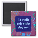 fish tremble funny magnet
