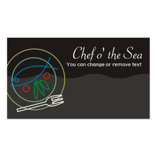 Fish vegetable dinner plate chef catering busin... pack of standard business cards
