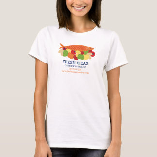 Fish vegetables fresh healthy food chef catering T-Shirt