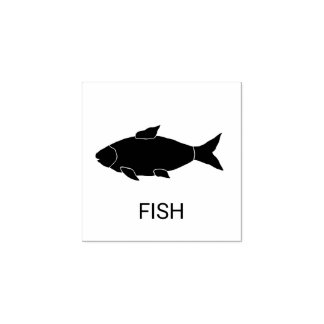 Fish Wedding Meal Choice Rubber Stamp