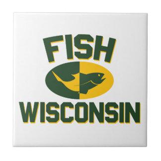 Fish Wisconsin Ceramic Tile