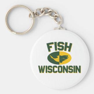 Fish Wisconsin Key Ring