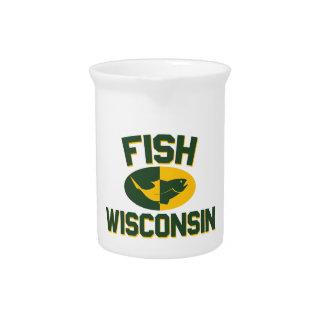 Fish Wisconsin Pitcher