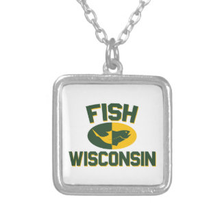 Fish Wisconsin Silver Plated Necklace