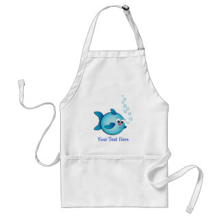 Fish with air bubble adult apron